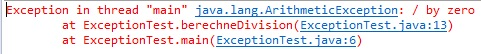 Java Exception ArithmeticException