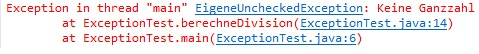 unchecked Exception